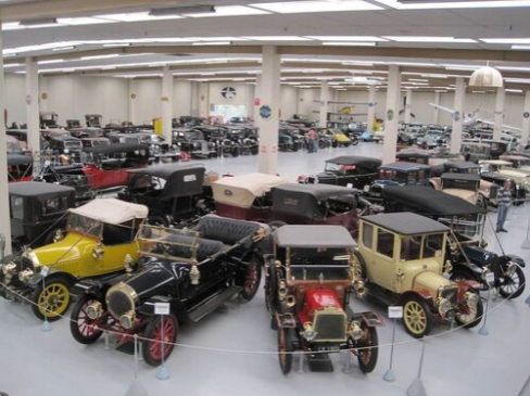 A selection of vintage cars.